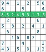 Sudoku - linha horizontal